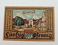 DINGOLFING NOTGELD 50 PFENNIG 1920 NOTGELDSCHEIN (11612)