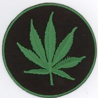 "25 Pcs RASTA Leaf (Green) Embroidered Patches 3"" Diameter iron-on"