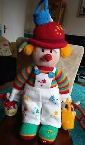 JEAN GREENHOWE KNITTED SYDNEY SLAPSTICK PAINTER CLOWN DOLL THE RED NOSE GANG VGC