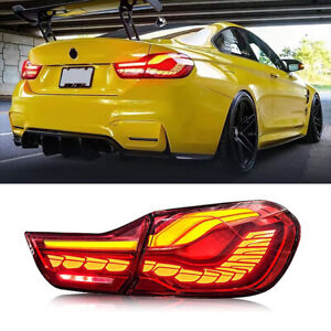 Smoked Red TailLights For BMW F32 F33 F36 F82 F83 4serise 2014-2020 LED RearLamp