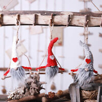 EE_ Lovely Gnome Doll Tomte Nisse Santa Elf Plush Toy Hanging Decor Christmas ne