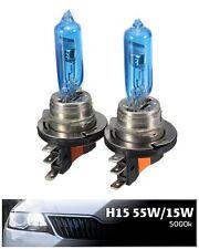 H15 15/55W 5000K White halogen bulbs DRL Audi BMW Mercedes KIA VW Amarok GOLF6/7