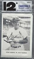 VINTAGE 1961 ST LOUIS CARDINALS PICTURE PACK (12) CARD SET - STAN MUSIAL ON TOP