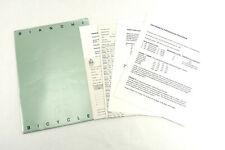Bianchi Bicycles Dealer Folder W Price List & pre season order forms 1992-93