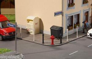 Straßenschilder mit Zubehör, Faller Miniaturwelten H0 (1:87), Art. 180450, Neu