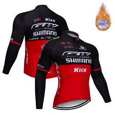 Men's Winter Bike Cycling Sports Jerseys Fleece Thermal Jackets Long Zipper Team