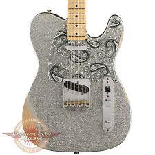 Brand New Fender Brad Paisley Signature Road Worn Telecaster Silver Sparkle Demo