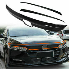 Abs Glossy Black Lip Front Grille Cover Moulding Trim For Honda Accord 2018 -20 (Fits: Honda)
