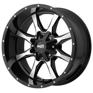 "Moto Metal MO970 16x8 8x6.5"" +0mm Black/Machined Wheel Rim 16"" Inch"