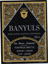 Etiquette de vin - BANYULS