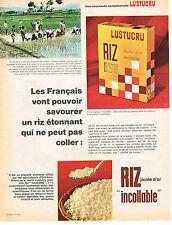 PUBLICITE  1966  LUSTUCRU  riz jaune d'or