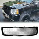 For 07-13 Chevy Silverado 1500 Black Front Upper Bumper Mesh Grille Grill Frame