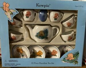 Kewpie Doll Theme Childs Tea Set Porcelain Schylling NEW In Box Rose O'Neill