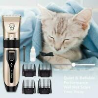 Pet Dog Cat Grooming Clippers Hair Trimmer Groomer Razor Shaver Quiet Z1Y5