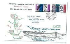 4/9/1964 UK GB FDC Forth Road Bridge, Map Fareham CDS Postmark First Day Cover