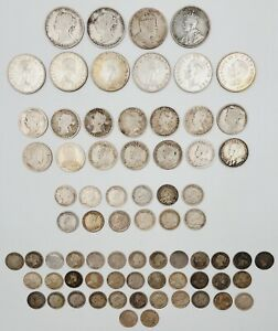 Lot of (73) Canada/Newfoundland Mixed Date/ Denomination Silver Coins 259.6g