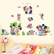 Mickey Minnie Mouse Wall Stickers Art Decals Nursery Baby Kids Room Decor PVC