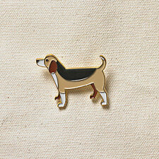 Pins Jewelery Enamel Gold plated finish Beagle Pet Dogs Pin Badge Brooch