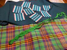 lot tissu et galons assortis verts  pour patchork ou autre