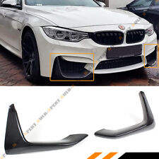2 PC CARBON FIBER FRONT BUMPER SPLITTERS LIP FOR 2015-2019 BMW F80 M3 F82 F83 M4