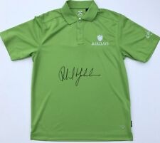 PHIL MICKELSON SIGNED CALLAWAY GOLF POLO SHIRT MASTERS BARCLAYS w/JSA RARE