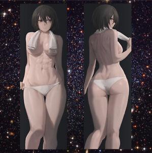 "mikasa ackerman Anime Attack on Titan Bedding Body Hugging Pillow Case Cover 59"""
