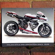 Ducati 848 Evo Metal Wall Sign Motorbike Vintage Wall Plaque 30x40cm NEW 50902