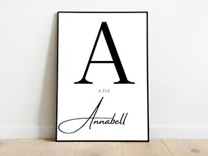 Personalised Name Initial Art Prints Wall Art A3/A4/A5 Posters Gift Idea