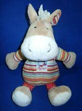 Sigikid Pferd Esel Jappy Jump groß ca 35 cm rot orange gestreift Halstuch Punkte