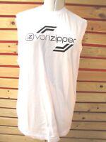 New VON ZIPPER MENS L TANK-TOP  Sport T-Shirt BOXER TOP white  RRP $49 BARGAIN