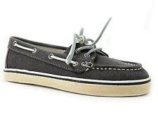 Steve Madden Women's Yachtt Boat Shoes Gray Canvas Size 5.5 M