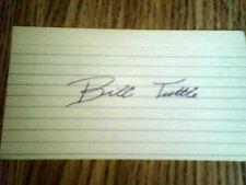 BILL TUTTLE, BASEBALL,VINTAGE SIGNED INDEX CARD,3X5 ,BLUE PEN