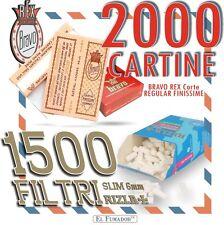 2000 CARTINE BRAVO REX CORTE REGULAR FINISSIME + 1500 FILTRI RIZLA SLIM 6 mm