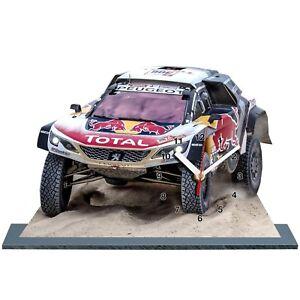 Sebastien LOEB, Rallye DAKAR 2018, Peugeot 3008 DKR -02 en horloge miniature
