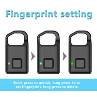 Smart Fingerprint Lock for Suitcase Luggage Keyless Padlock Door Lock Security