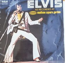 Elvis as Recorded Madison Sq Garden Manufactured by RCA Limited Sydney 1972 rare