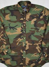 Ralph Lauren Shirt Camo Oxford Button-Front 2XB 2XLT 3XB 3XLT Big Tall NWT $148