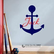 Anchor Custom Personalised Name Wall Art Stickers Boys Nursery Decor Art Mural