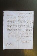 1865 LIVERPOOL LETTER CONCERNING FINANCE