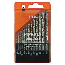 Frost 13 Piece Imperial Drill Set High Speed Steel Drill Bits HSS