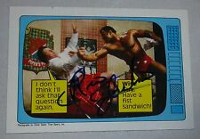 Rocky Johnson Signed 1985 Topps WWF Rookie Card #59 WWE RC Autograph Piper's Pit