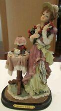 Beautiful Montefiori Collection Ceramic Victorian Lady Figurine
