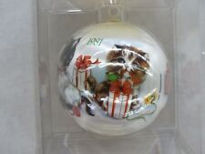 1985 Vintage Satin Christmas Ornament Relaxing By A Warm Fire D