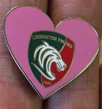 LEICESTER TIGERS Rugby Union Cœur Rose Enamel Pin Badge