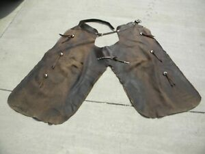 Vintage Leather Cowboy Chaps used