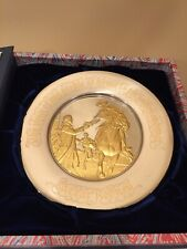Ceasar Rodney Bicentennial Silver And Gold Plate 1975 In Original Box
