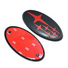 STI WRX Hood & Trunk Carbon Fiber Black Red Badge Emblem 2015-2018 For Subaru