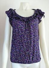 Zara Short Sleeve Floral Regular Size Tops for Women