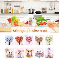10pcs Colorful Seamless Wall Hook Durable Traceless Adhesive Hook Hanger