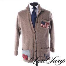 RARE Vintage VTG 90s RL90 Ralph Lauren Country USA Flag Horse Jacket Cardigan M